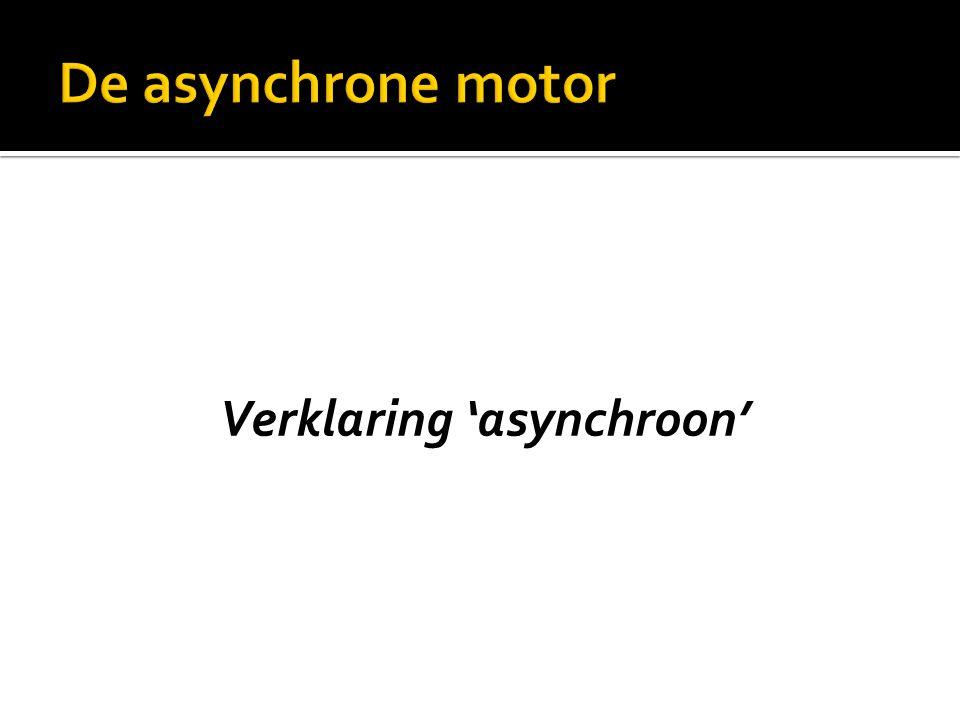 Verklaring 'asynchroon'