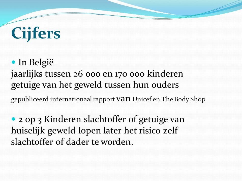 Cijfers  In België jaarlijks tussen 26 000 en 170 000 kinderen getuige van het geweld tussen hun ouders gepubliceerd internationaal rapport van Unice