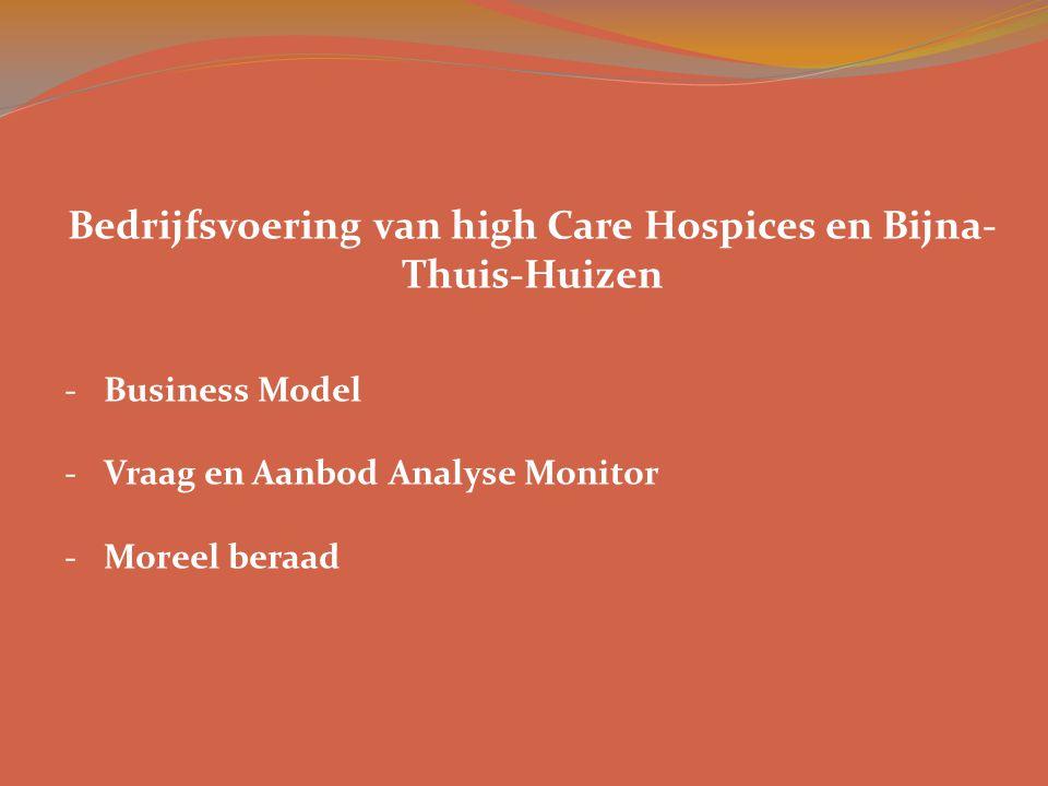 -Business Model -Vraag en Aanbod Analyse Monitor -Moreel beraad