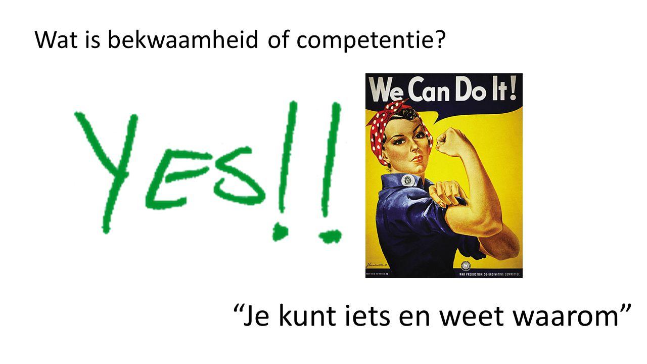 Wat is bekwaamheid of competentie? Je kunt iets en weet waarom