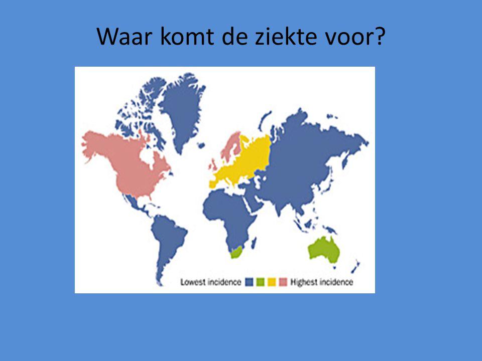 Hoe vaak komt de ziekte voor? In Nederland 30.000 mensen Per jaar 2.000 nieuwe patiënten
