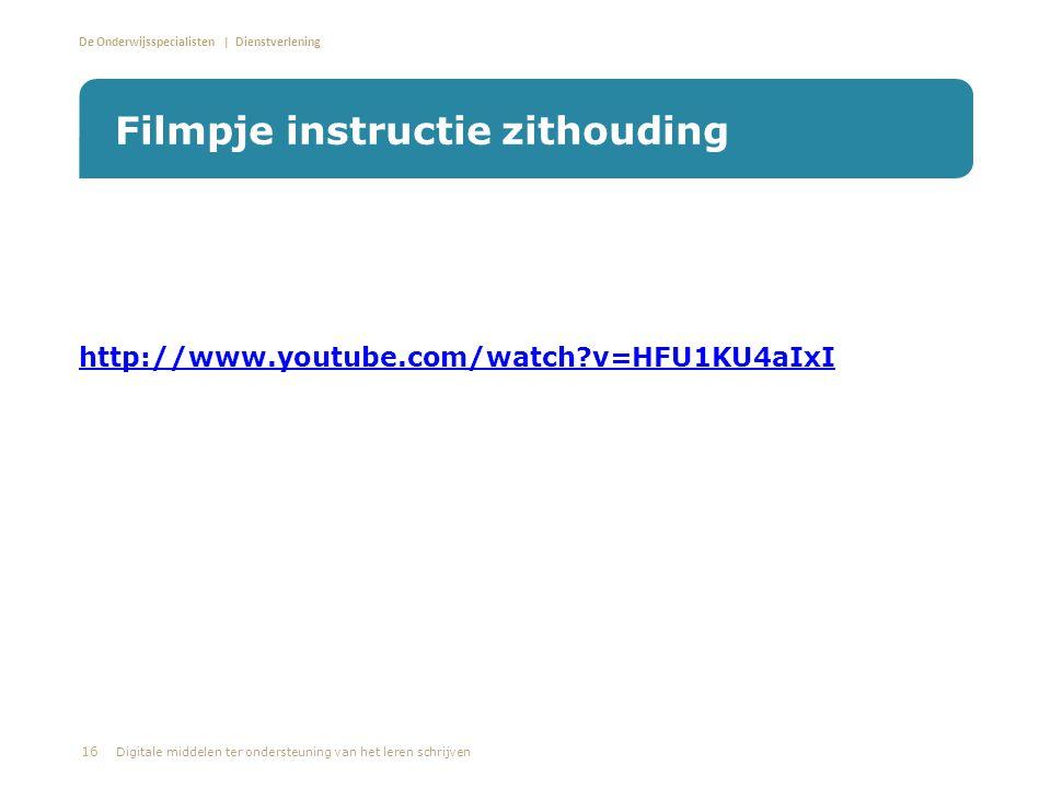 De Onderwijsspecialisten | Dienstverlening • http://www.youtube.com/watch?v=HFU1KU4aIxI http://www.youtube.com/watch?v=HFU1KU4aIxI Filmpje instructie