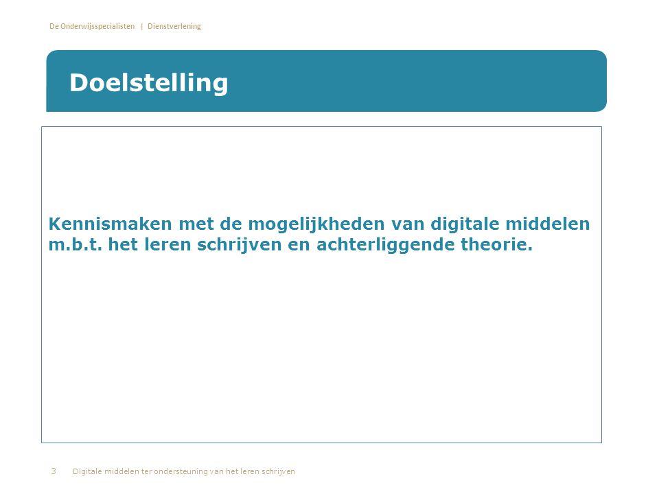 De Onderwijsspecialisten | Dienstverlening • Ontwikkeld door: Khoeler M.