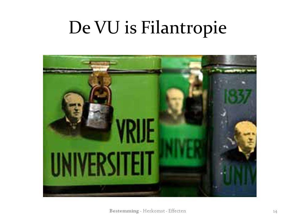 De VU is Filantropie Bestemming - Herkomst - Effecten14