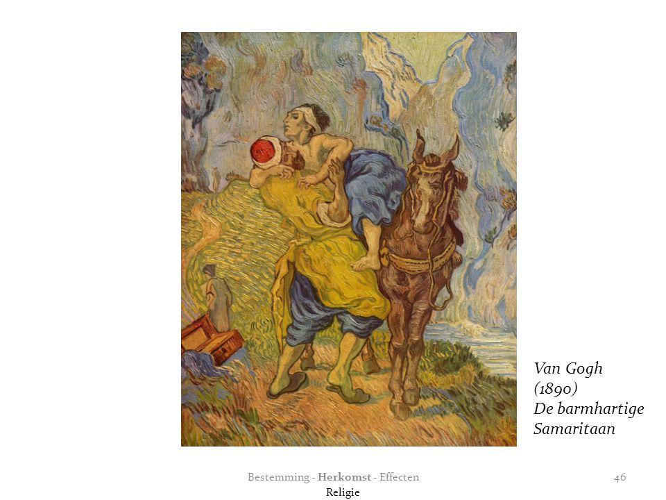 Bestemming - Herkomst - Effecten46 Van Gogh (1890) De barmhartige Samaritaan Religie