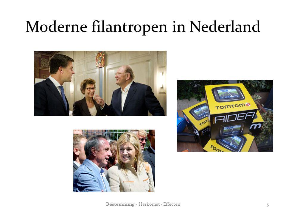 Moderne filantropen in Nederland Bestemming - Herkomst - Effecten5