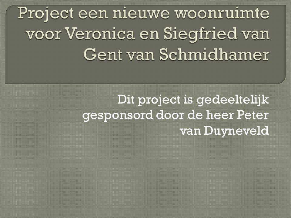 Dit project is gedeeltelijk gesponsord door de heer Peter van Duyneveld