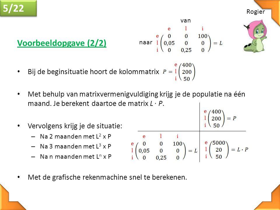 Freek 16/22 • Als de eigenwaarden eenmaal gevonden zijn, kunnen deze waarden voor λ weer ingevuld worden in de vergelijking (A-Iλ)x = 0.