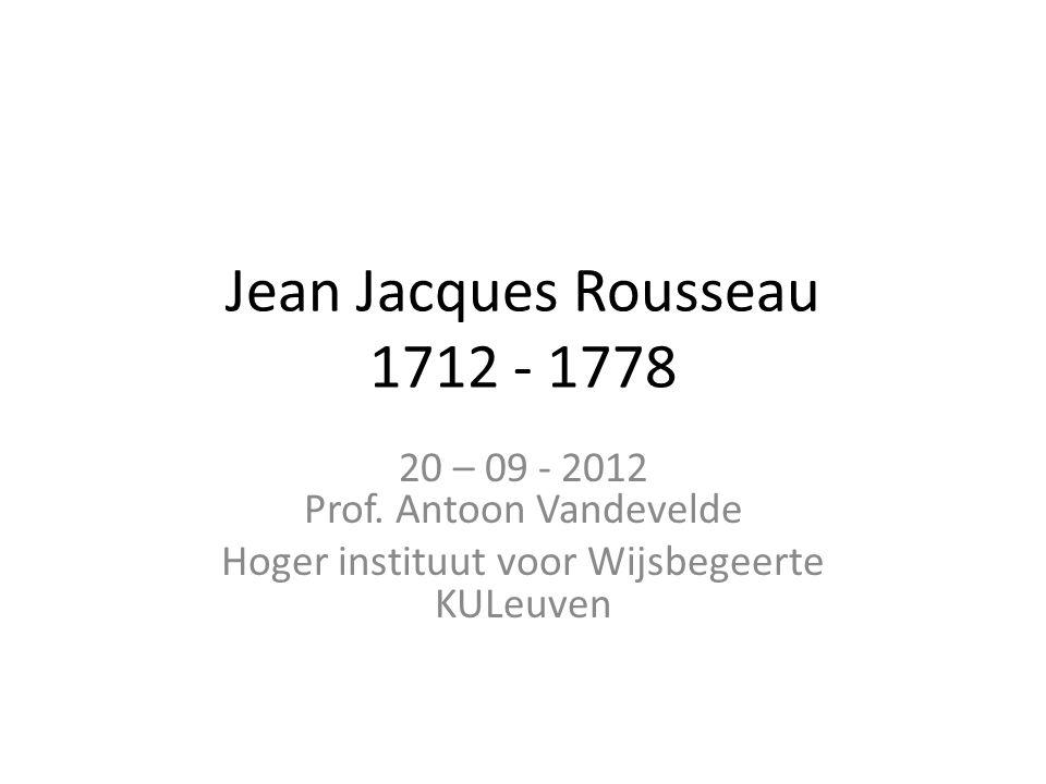 Oeuvre • Discours sur les Sciences et les Arts - 1749 • Discours sur l'Origine de l'Inégalité parmi les Hommes – 1754 • Discours sur l'Economie Politique – 1755 • Lettre à d'Alembert sur les Spectacles – 1758 • La Nouvelle Héloise – 1761 • Emile – 1762 • Du Contrat Social – 1762 • Confessions – 1770 • Dialogues: Rousseau Juge de Jean Jacques - 1776 • Rêveries d'un Promeneur Solitaire - 1778