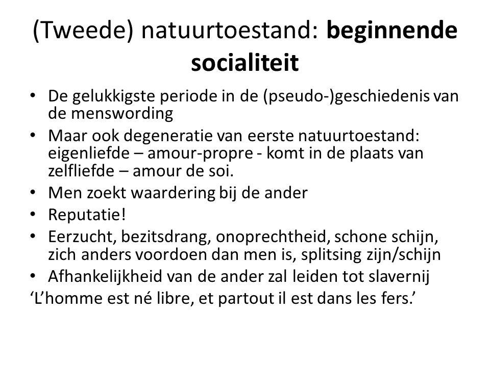 SC: Mensen worden burgers • Geen terug naar de natuur, geen nostalgie • Pas in burg.