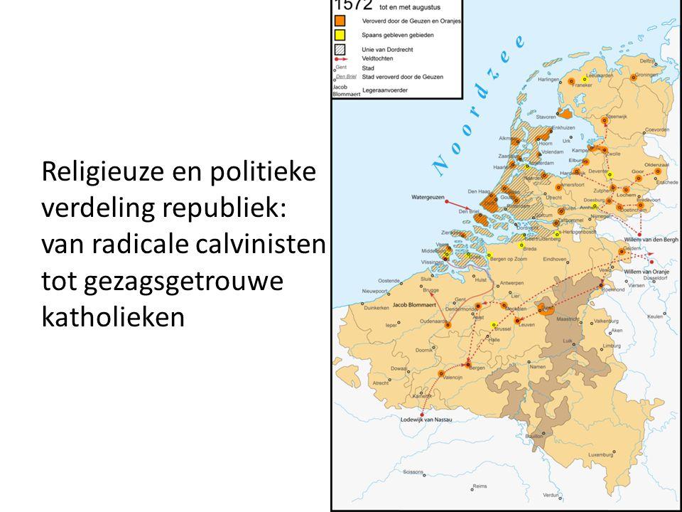 Oplossing: • 1588: de noordelijke Nederlanden namen zelf de soevereiniteit op zich • 1596: Frankrijk en Engeland erkenden de Republiek • 1648: Spanje erkende de Republiek bij de vrede van Munster