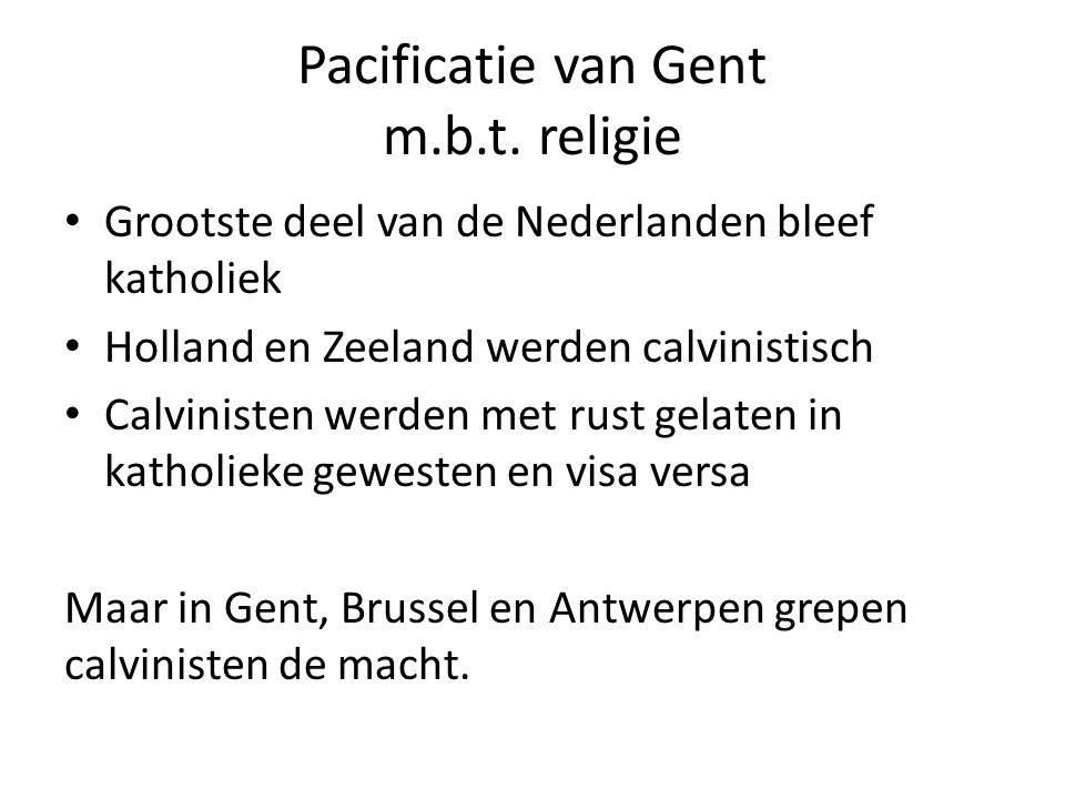 Pacificatie van Gent m.b.t.