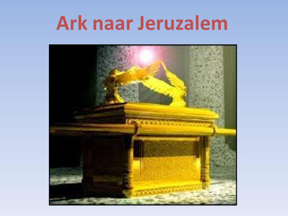 Zij vervoerden de ark van God op een nieuwe wagen. dragen of op een nieuwe wagen