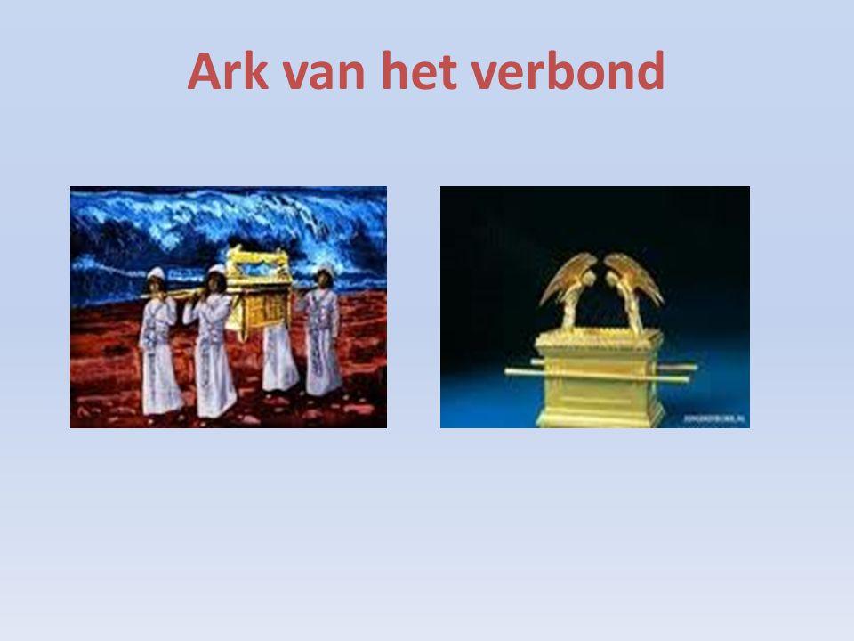 2 echte stenen tafelen in de ark, vergelijk : tichelstenen bakken