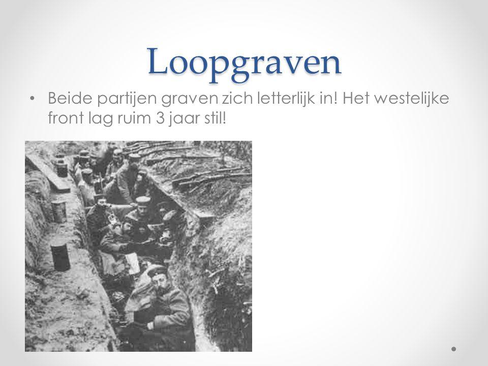 Loopgraven • Beide partijen graven zich letterlijk in! Het westelijke front lag ruim 3 jaar stil!