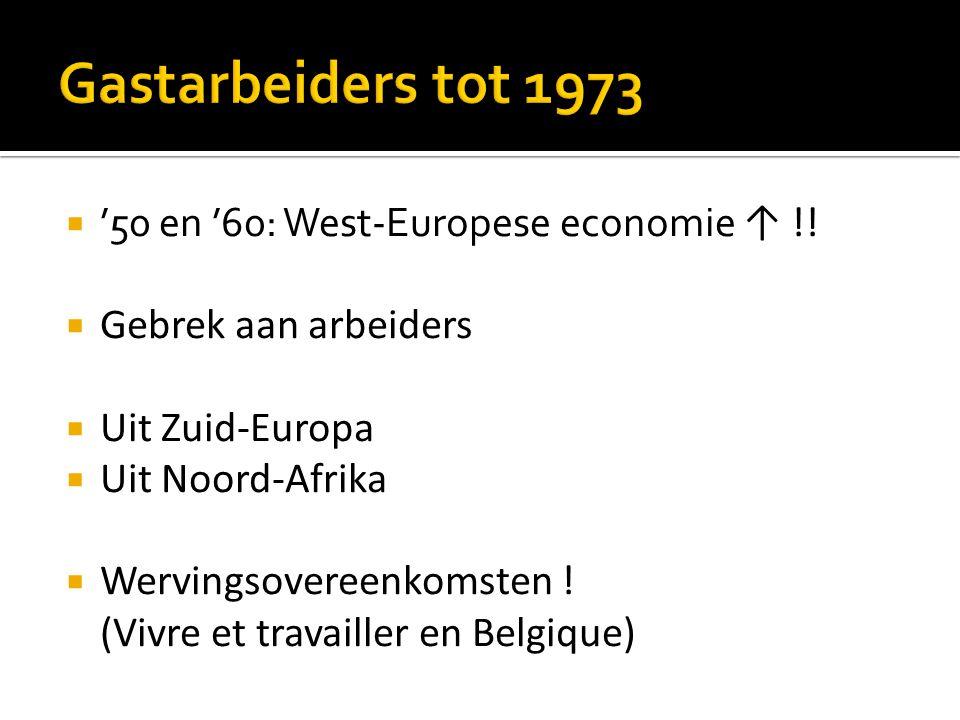  '50 en '60: West-Europese economie ↑ !.