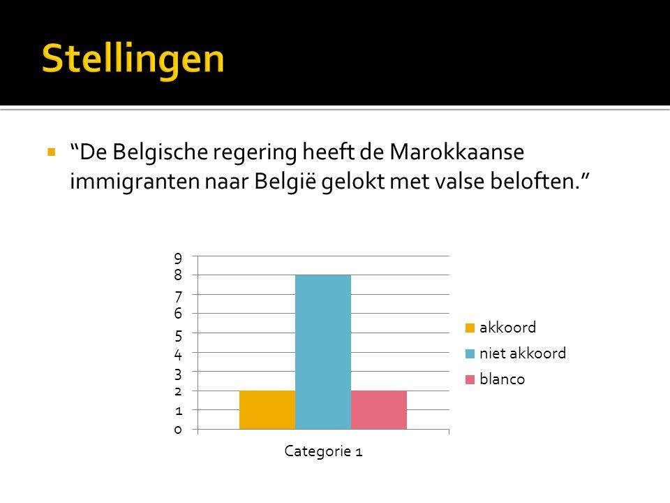  De Belgische regering heeft de Marokkaanse immigranten naar België gelokt met valse beloften.