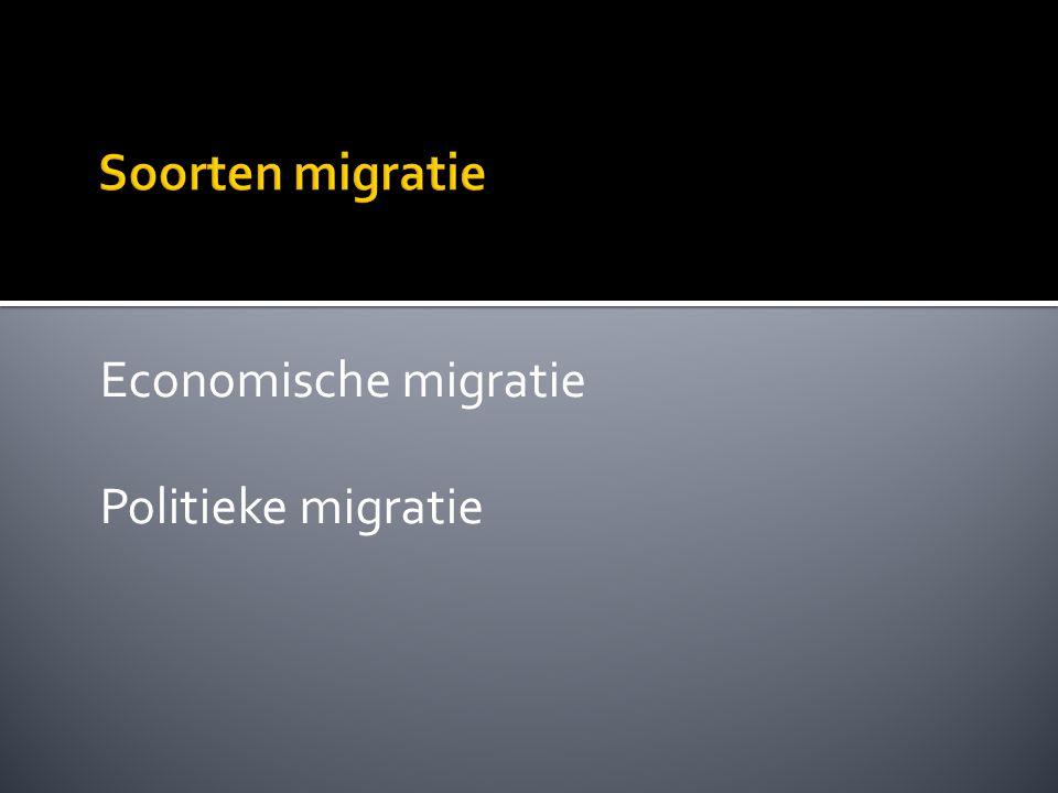 Economische migratie Politieke migratie