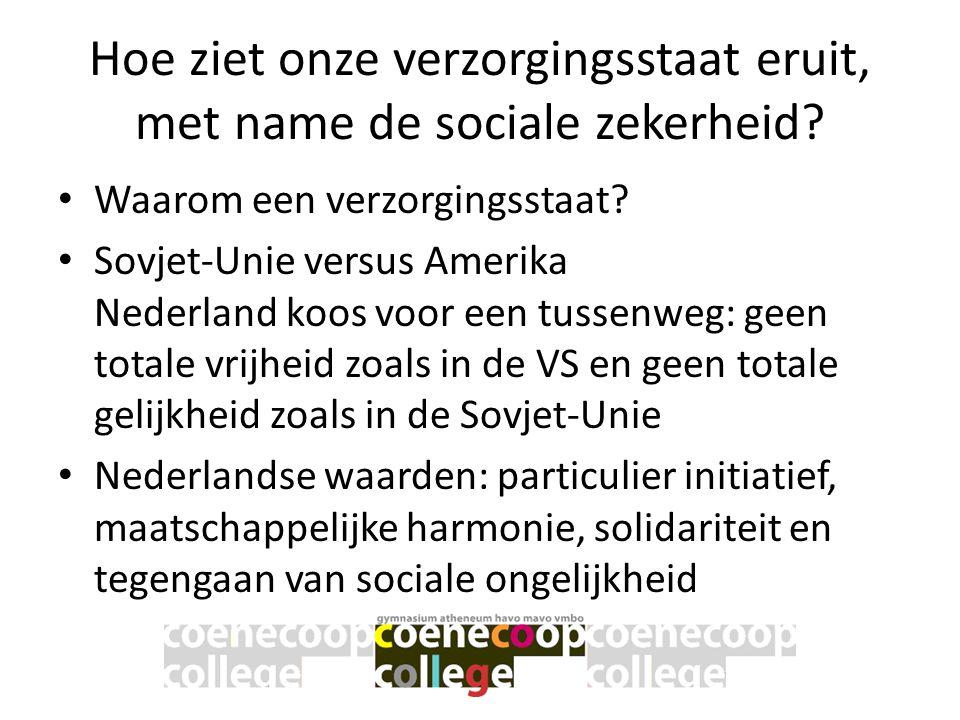 Hoe ziet onze verzorgingsstaat eruit, met name de sociale zekerheid? • Waarom een verzorgingsstaat? • Sovjet-Unie versus Amerika Nederland koos voor e