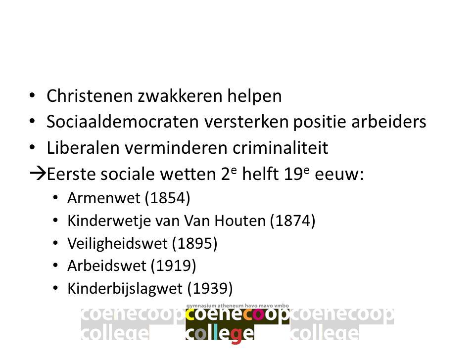 Verzorgingsstaat • Na WO II Regering van KVP en sociaaldemocraten.