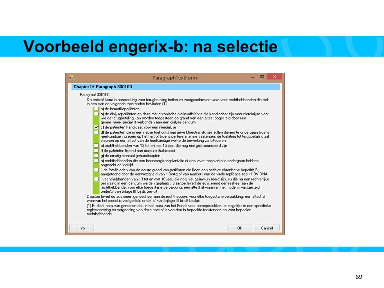 69 Voorbeeld engerix-b: na selectie 17 69