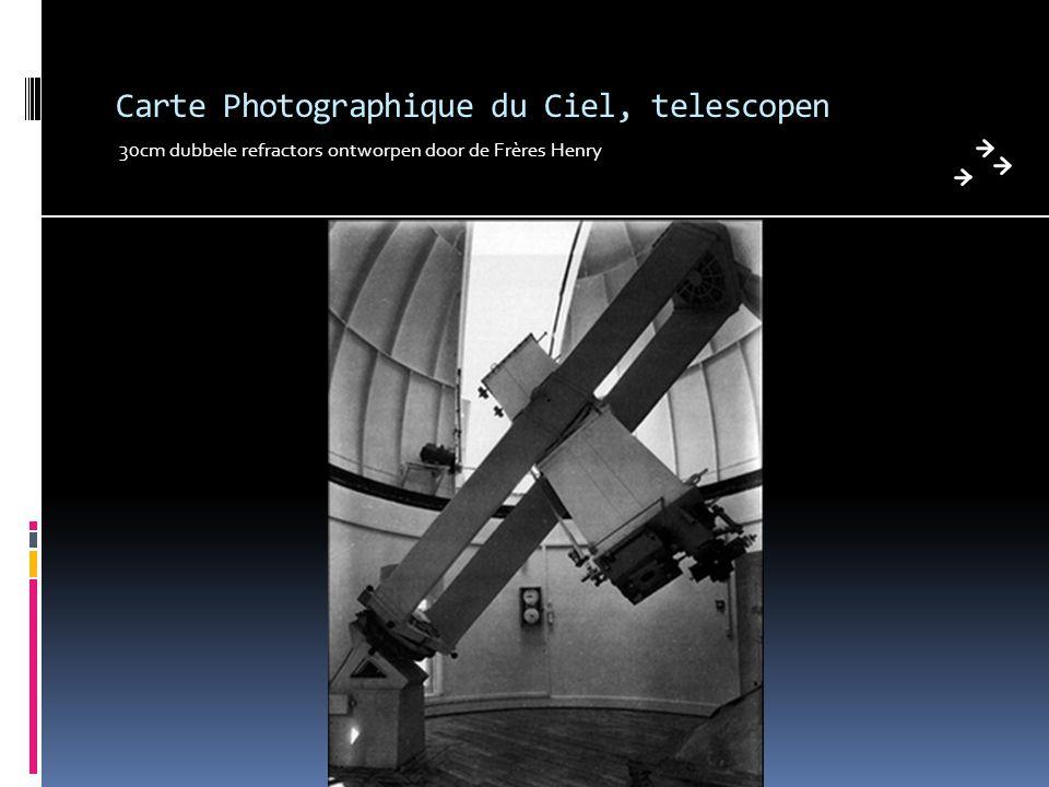 Carte Photographique du Ciel, telescopen 30cm dubbele refractors ontworpen door de Frères Henry