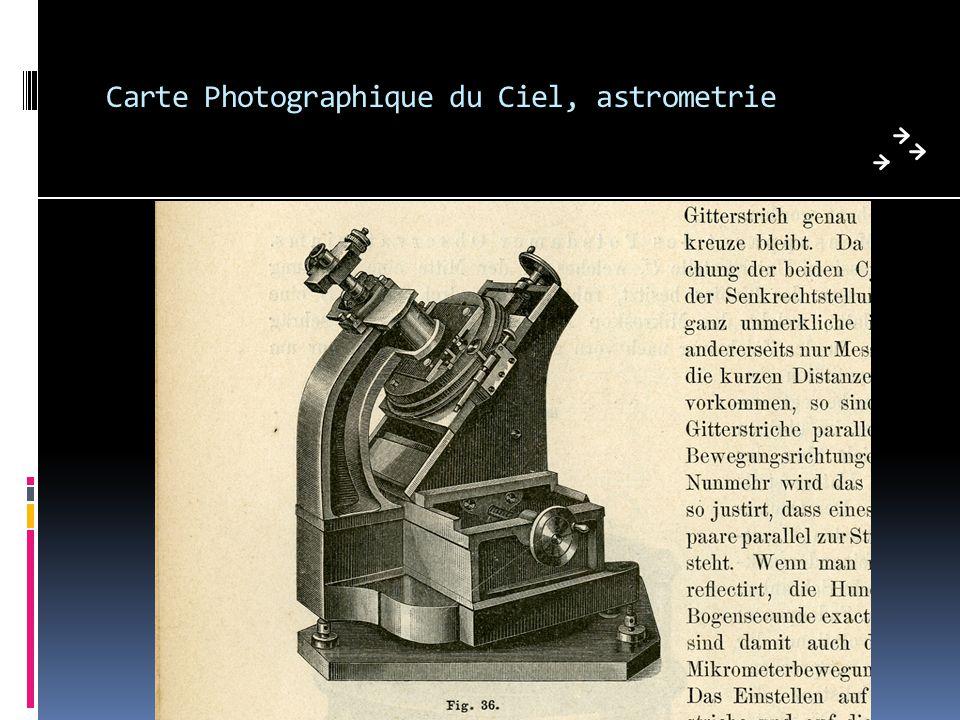 Carte Photographique du Ciel, astrometrie
