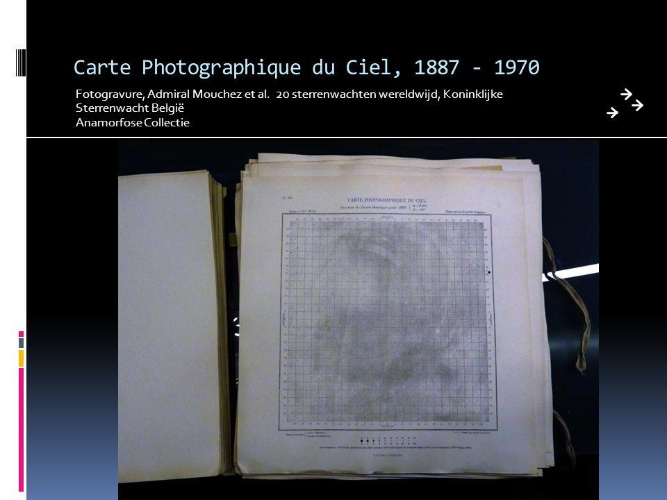 Carte Photographique du Ciel, 1887 - 1970 Fotogravure, Admiral Mouchez et al. 20 sterrenwachten wereldwijd, Koninklijke Sterrenwacht België Anamorfose