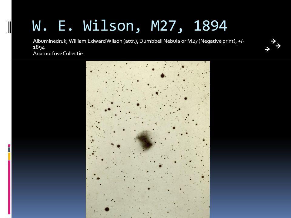 W. E. Wilson, M27, 1894 Albuminedruk, William Edward Wilson (attr.), Dumbbell Nebula or M27 (Negative print), +/- 1894 Anamorfose Collectie