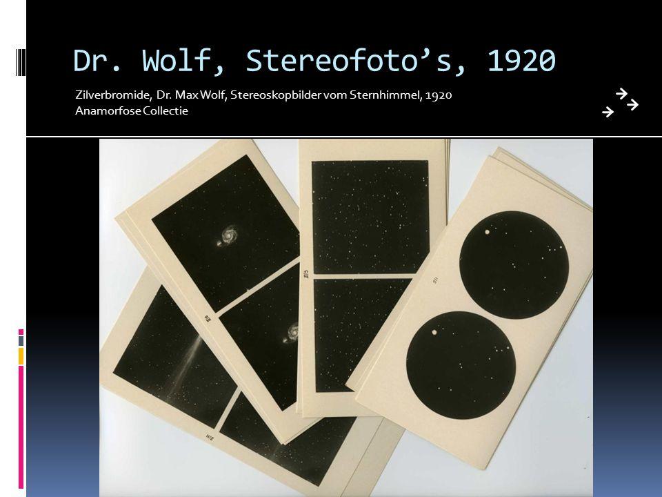Dr. Wolf, Stereofoto's, 1920 Zilverbromide, Dr. Max Wolf, Stereoskopbilder vom Sternhimmel, 1920 Anamorfose Collectie