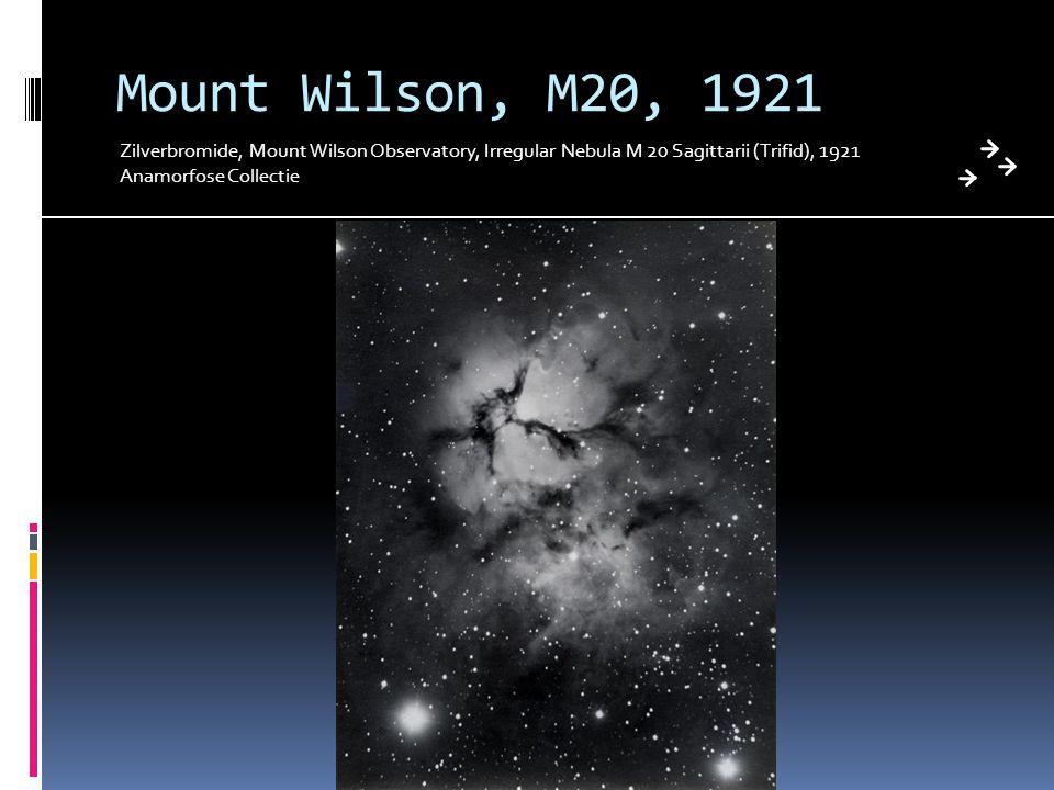 Mount Wilson, M20, 1921 Zilverbromide, Mount Wilson Observatory, Irregular Nebula M 20 Sagittarii (Trifid), 1921 Anamorfose Collectie