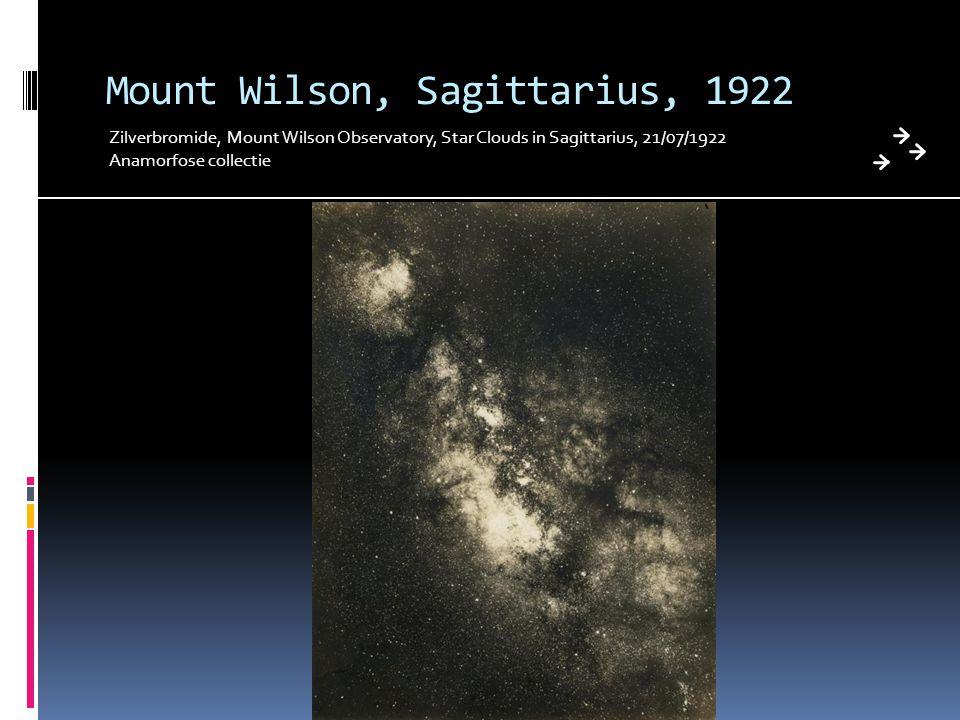 Mount Wilson, Sagittarius, 1922 Zilverbromide, Mount Wilson Observatory, Star Clouds in Sagittarius, 21/07/1922 Anamorfose collectie