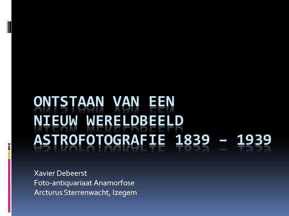 Xavier Debeerst Foto-antiquariaat Anamorfose Arcturus Sterrenwacht, Izegem