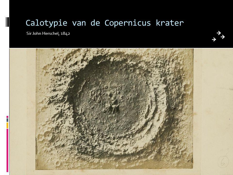 Calotypie van de Copernicus krater Sir John Herschel, 1842