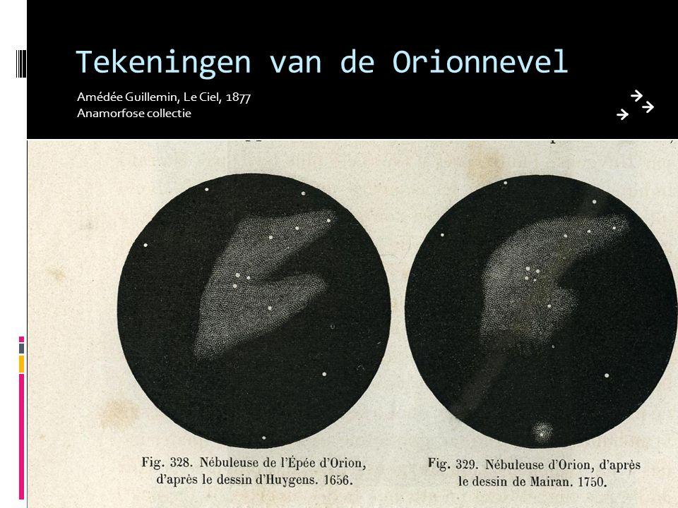 Tekeningen van de Orionnevel Amédée Guillemin, Le Ciel, 1877 Anamorfose collectie