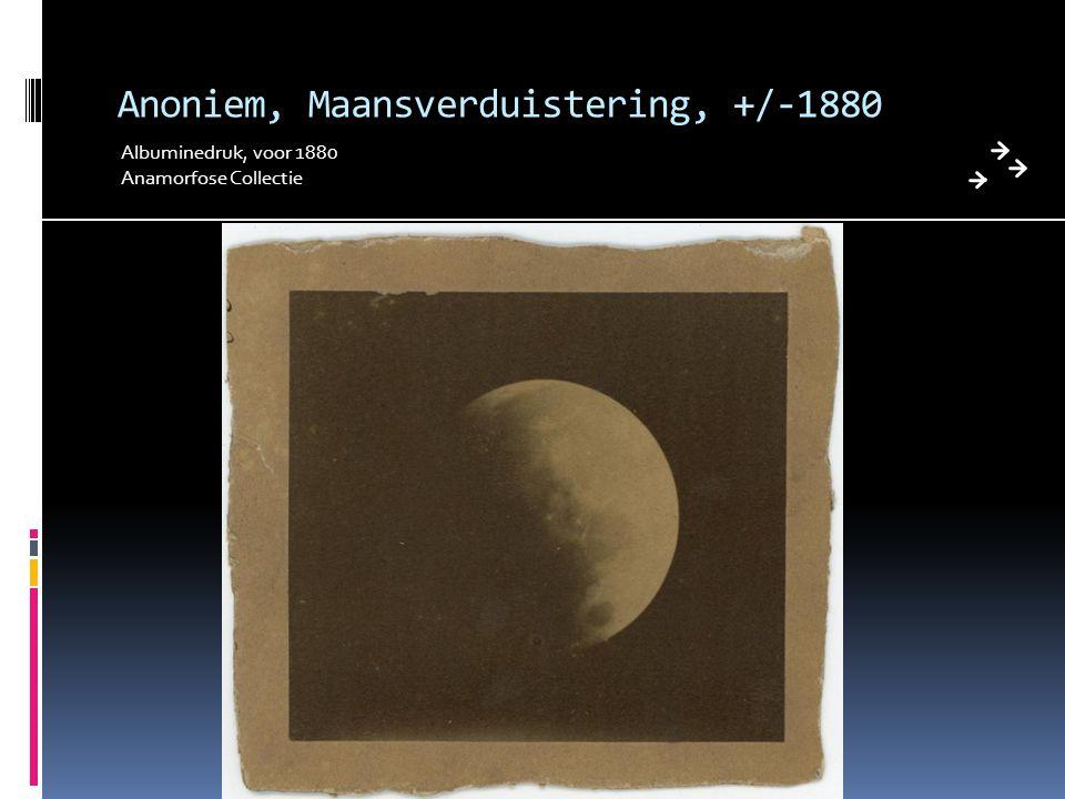 Anoniem, Maansverduistering, +/-1880 Albuminedruk, voor 1880 Anamorfose Collectie