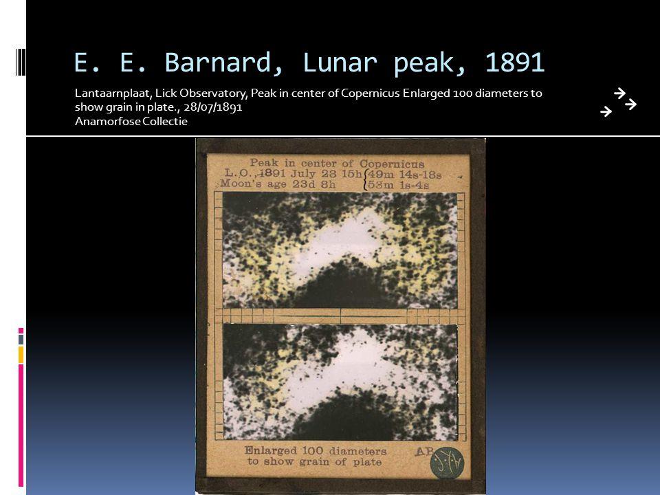 E. E. Barnard, Lunar peak, 1891 Lantaarnplaat, Lick Observatory, Peak in center of Copernicus Enlarged 100 diameters to show grain in plate., 28/07/18