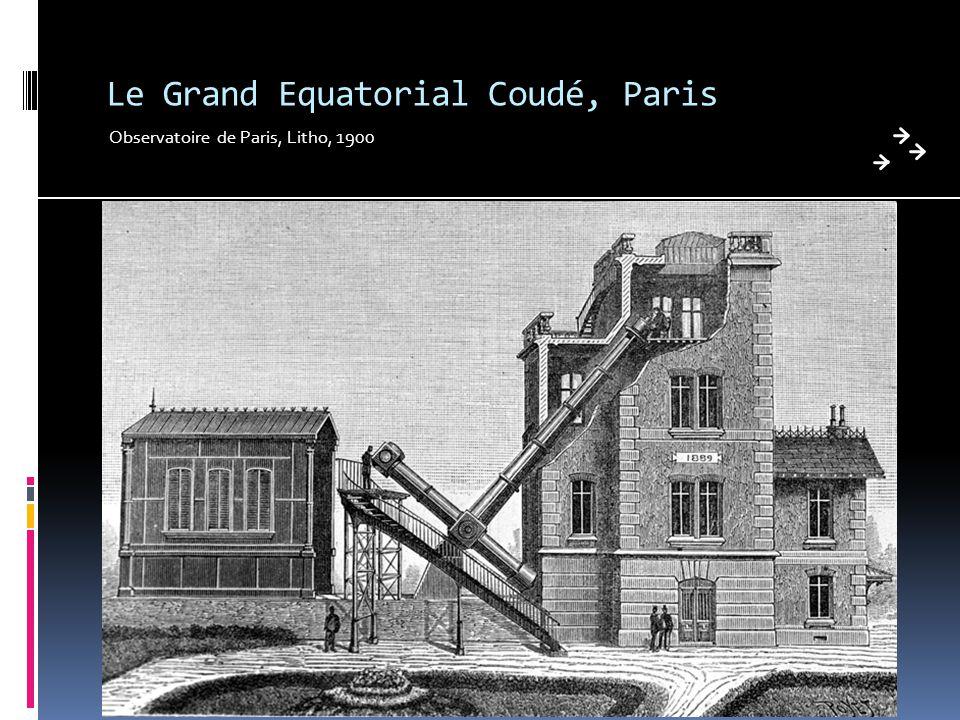 Le Grand Equatorial Coudé, Paris Observatoire de Paris, Litho, 1900