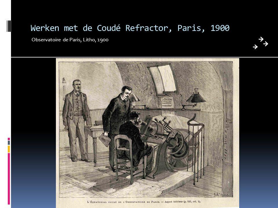 Werken met de Coudé Refractor, Paris, 1900 Observatoire de Paris, Litho, 1900
