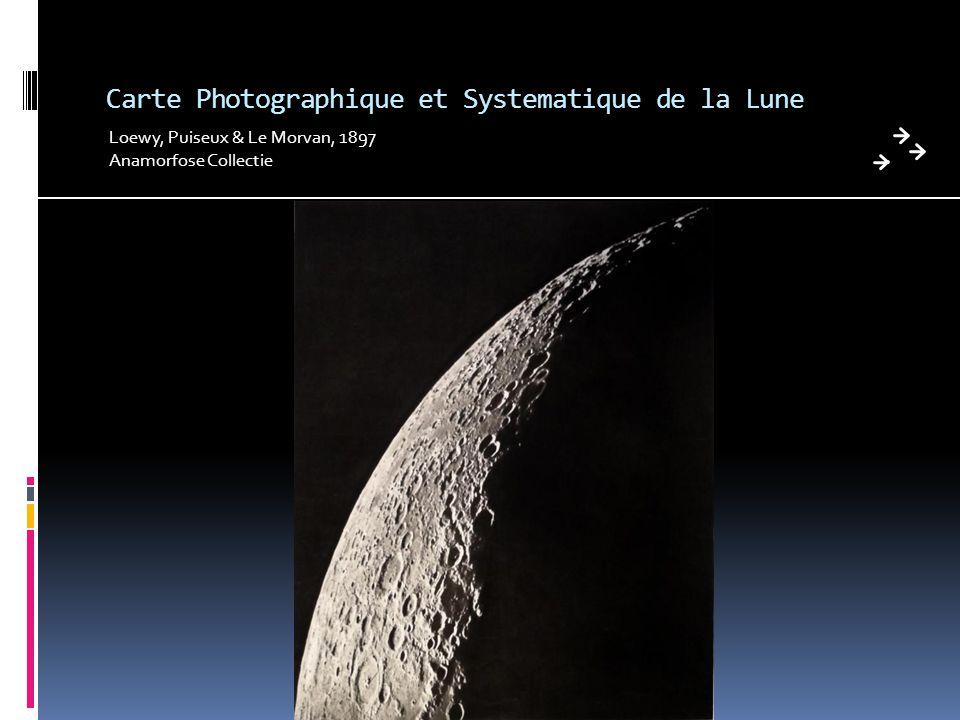 Carte Photographique et Systematique de la Lune Loewy, Puiseux & Le Morvan, 1897 Anamorfose Collectie