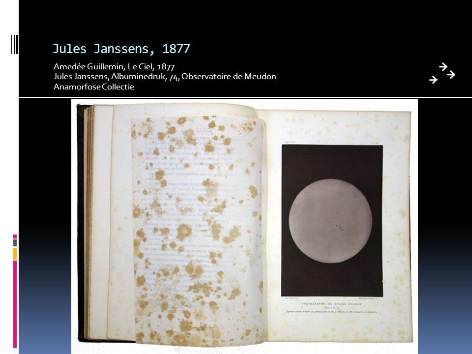 Jules Janssens, 1877 Amedée Guillemin, Le Ciel, 1877 Jules Janssens, Albuminedruk, 74, Observatoire de Meudon Anamorfose Collectie