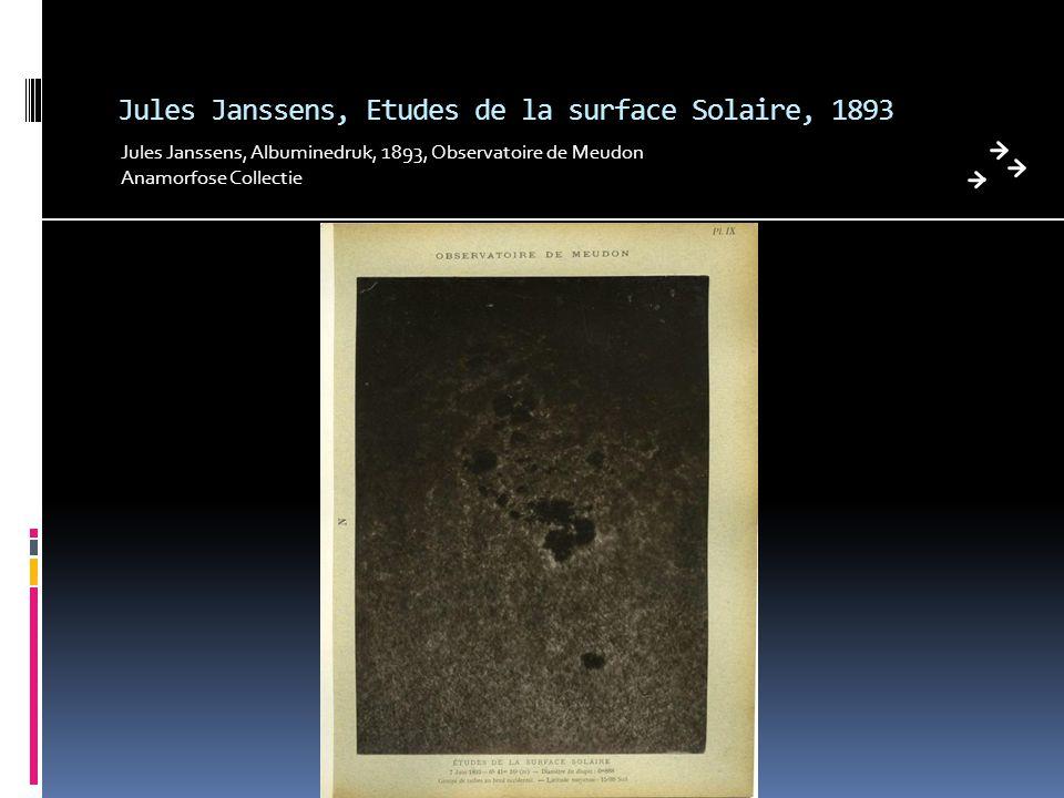 Jules Janssens, Etudes de la surface Solaire, 1893 Jules Janssens, Albuminedruk, 1893, Observatoire de Meudon Anamorfose Collectie