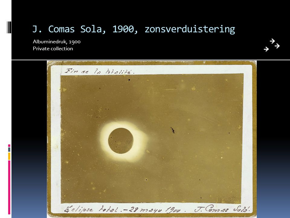 J. Comas Sola, 1900, zonsverduistering Albuminedruk, 1900 Private collection