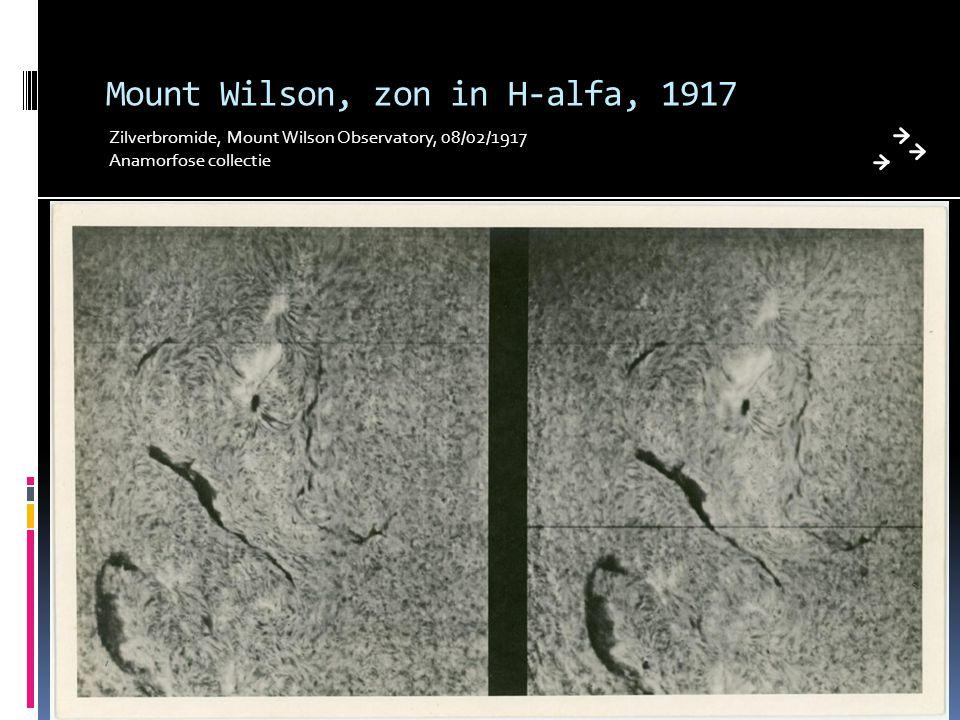 Mount Wilson, zon in H-alfa, 1917 Zilverbromide, Mount Wilson Observatory, 08/02/1917 Anamorfose collectie