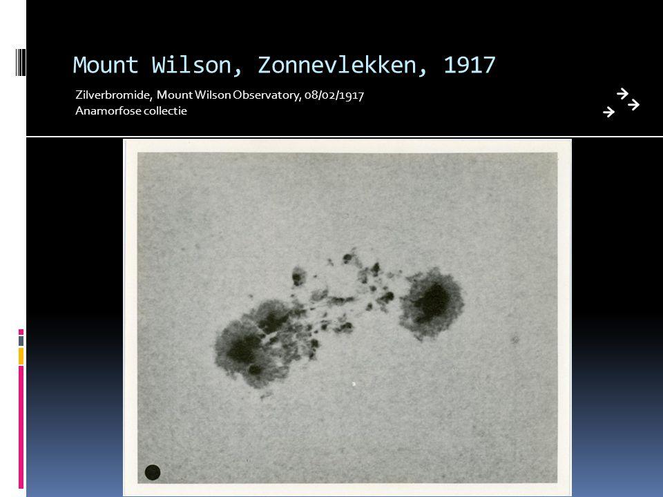 Mount Wilson, Zonnevlekken, 1917 Zilverbromide, Mount Wilson Observatory, 08/02/1917 Anamorfose collectie