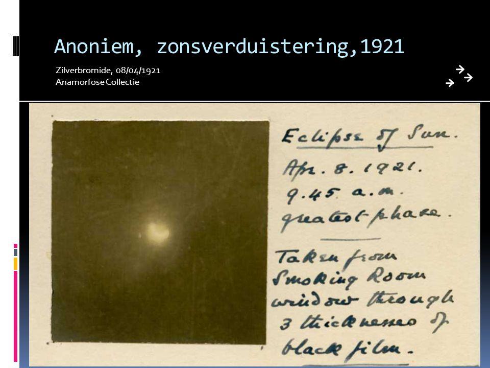 Anoniem, zonsverduistering,1921 Zilverbromide, 08/04/1921 Anamorfose Collectie