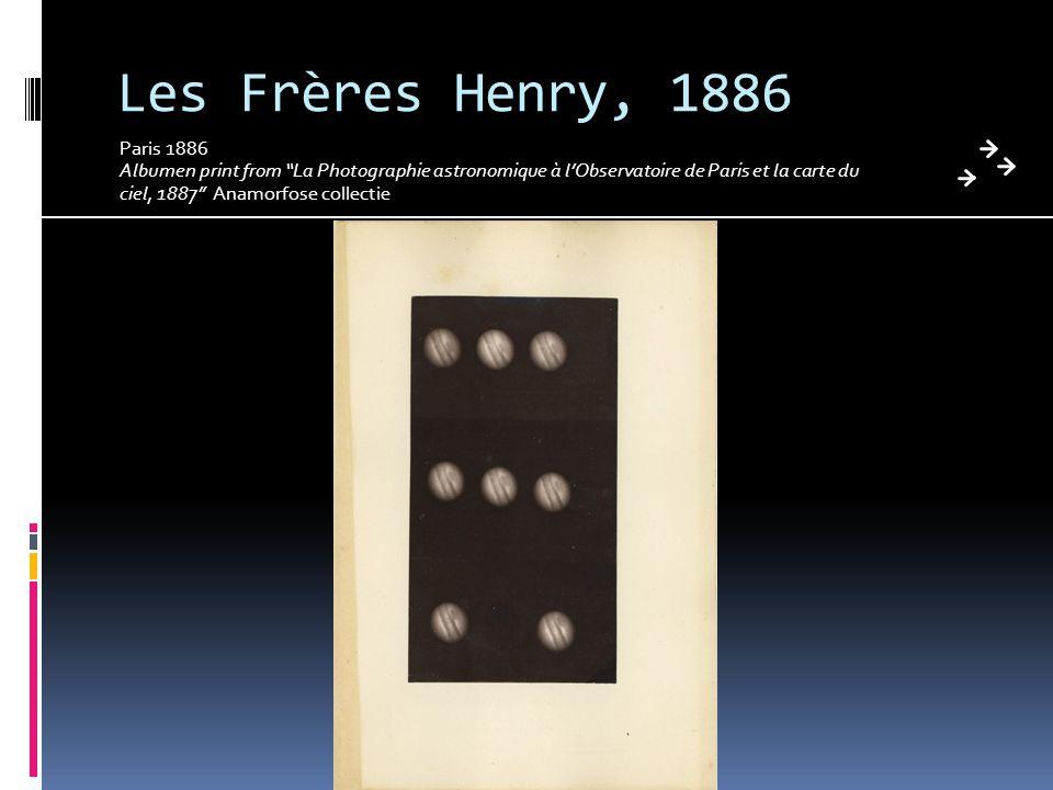 Les Frères Henry, 1886 Paris 1886 Albumen print from La Photographie astronomique à l'Observatoire de Paris et la carte du ciel, 1887 Anamorfose collectie