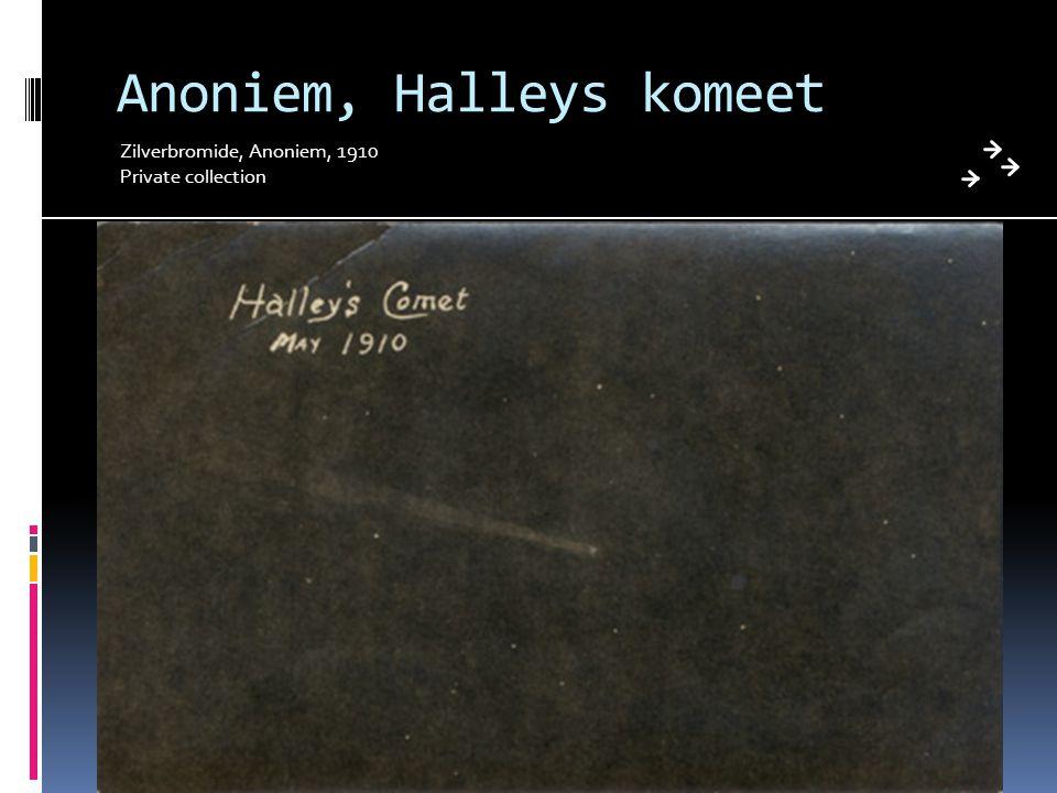 Anoniem, Halleys komeet Zilverbromide, Anoniem, 1910 Private collection