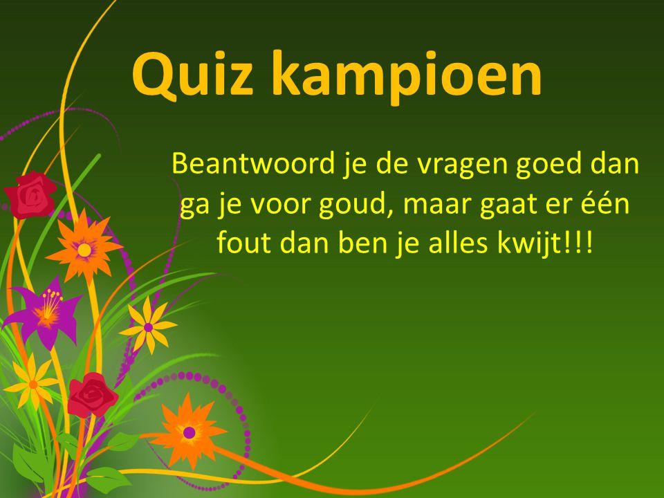 Quiz kampioen Frank de BoerEdwin van de Sar Luuk de JongRuud van Nistelrooy Wie heeft de meeste interlands gespeeld voor oranje.