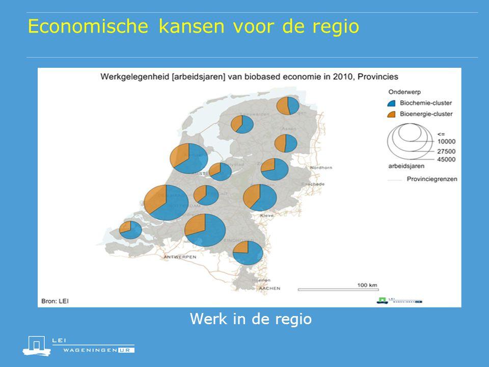 Economische kansen voor de regio Werk in de regio